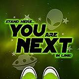 Next In Line Mat - Green Aliens (24'' x 24'')