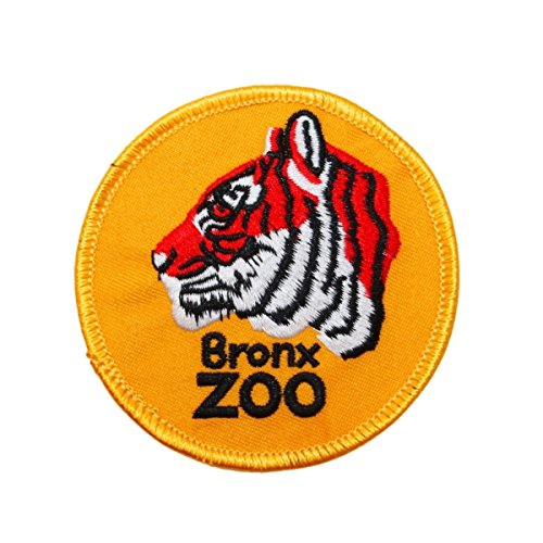Bronx Zoo Patch New York City Tiger Park Travel NY Embroidered Iron On Applique -