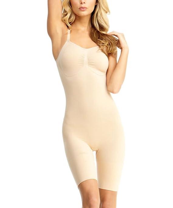 f32461843c SlimMe MeMoi Bodysuit Shaper with Thigh Control
