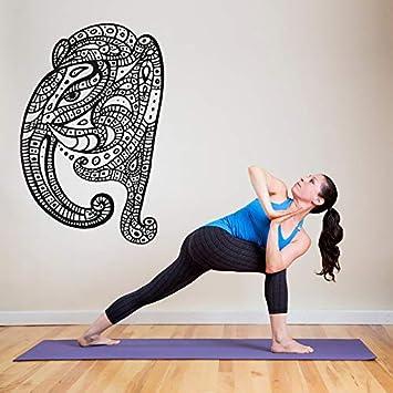 Wall Stickers,Art Decal Room Decor,Vinyl Elephant Yoga ...