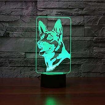 Jinson well 3D ein deutscher schäferhund Hund Nachtlicht