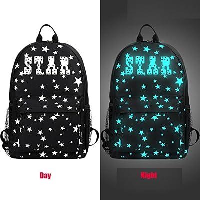 Noctilucent Backpacks,Hemlock Teenagers Noctilucent Cartoon School Bags Student Backpack