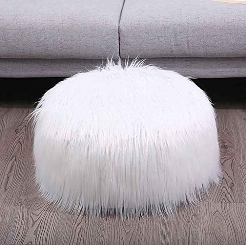 Nesee Gallity Inflatable Plush Sofa Stool, Futon Mat, Portable Pluffy Round Foot Rest Stool, European Style Footstool w/Pump, Suitable for Kids and Adults (For Sets Sofa Sale Fabric)