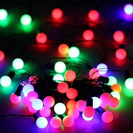 Pixnor 6M 220V 40-Mini bombilla LED en forma de secuencia del LED que cambian