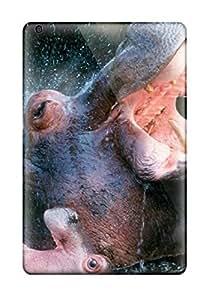 Premium Bathing Hippopotamuses Wallpaper Back Cover Snap On Case For Ipad Mini/mini 2