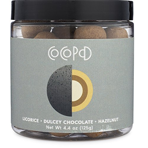 Cocopod Espresso Bean Chocolate Hazelnut - Delicious Layered Chocolate Experience | Gluten Free, Non GMO, Sustainable Dark Cocoa Powder (Espresso Beans, Dulcey + 38% Milk Chocolate Candy, Hazelnuts)
