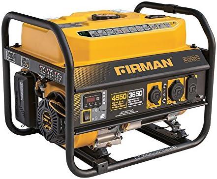Firman P03607 4550 3650 Watt Recoil Start Gas Portable Generator CARB Certified