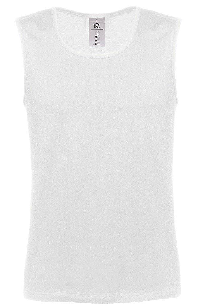 Athletic Shirt Tank Top, Farbe Weiß;Größe XXL
