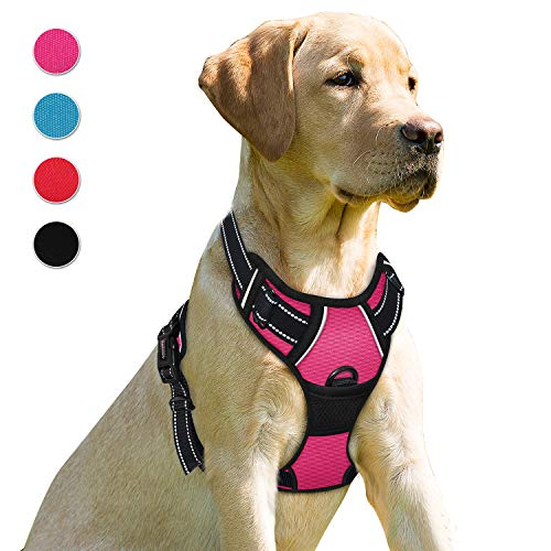 - BARKBAY No Pull Dog Harness Front Clip Heavy Duty Reflective Easy Control Handle for Large Dog Walking