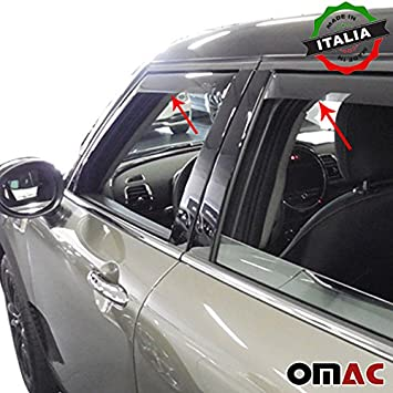 Omac GmbH Wind and Rain Deflectors 4-Piece Set Front and Rear