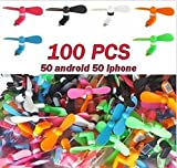 USA Premium Store Lot 100 X PCS Smartphone Fans Portable USB For iPhone 56 Android phone colored