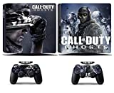 Cosines PS4 Slim Stickers Vinyl Decal Protective Console Skins Cover for Sony Playstation 4 Slim and 2 Controllers Call of Duty COD Ghosts Soldier Army War