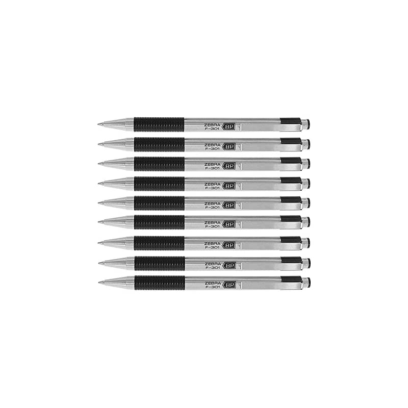 Zebra F-301 Ballpoint Retractable Pen, B