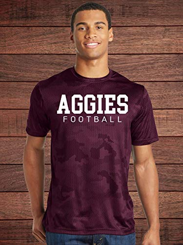 - AGGIES Football Maroon Camo Dry-Fit Shirt - Texas A&M - New Mexico State