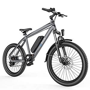 """G-Force S21 Electric Bike,26""""Mountain Bike,250W brushless Motor, 48V 10.4A Large Capacity Battery,Max Speed 25MPH,Max Range 35 Miles,with Shimano 7-Speed Electric Bike for Adults"""