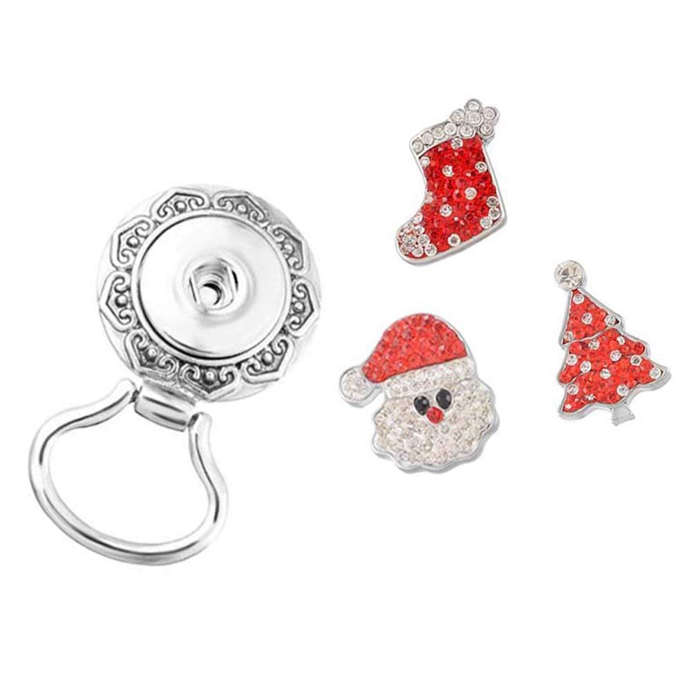 MJartoria Christmas Interchangeable Snap Buttons Centerpiece Rhinestone Eye Glass Holding Magnetic Brooch XIEHOU XHA0AD5K1AX