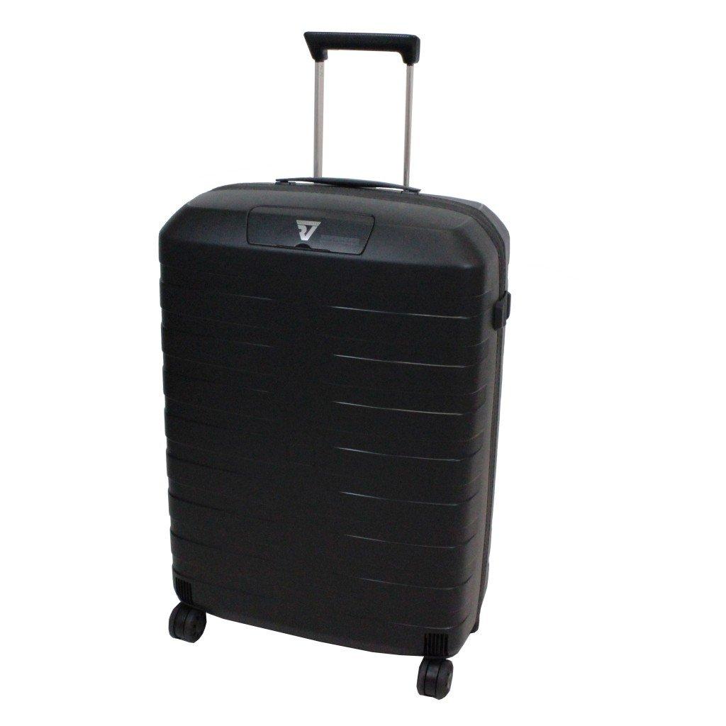 [ロンカート] RONCATO BOX イタリア製 超軽量スーツケース 64cm 67L 2.9kg 耐水ファスナー 双輪キャスター[5512] B01CX403HK ブラック/ブラック ブラック/ブラック
