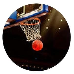 alfombrilla de ratón canasta de baloncesto con todos van a través de red - ronda - 20cm