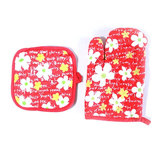 ️ Yu2d ❤️❤️ ️Cooking Cotton Microwave Oven Gloves Mitts Pot Pad Heat Proof Protected by ❤️ Yu2d ❤️_ Home & Kitchen (Image #5)