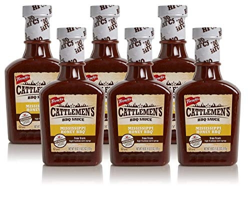 Cattlemens Mississippi Honey Bbq Sauce No High-Fructose Corn Syrup Real Ingredients 18Oz (Pack Of 6)