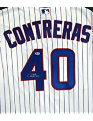 Chicago Cubs Willson Contreras Autographed White Majestic Cool Base Jersey Size XL Beckett BAS