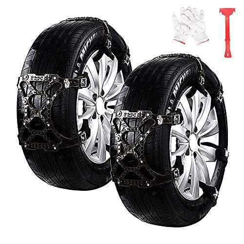 """Car Snow Chains 6pcs Anti Slip Snow Skid Chains Universal Adjustable Tire Snow Chains Winter for Hyundai Cars/SUV/Truck/ATV Anti-Skip, Snow, Mud and Sand Tire Traction Device, Tire Width with 6""""-11"""""""