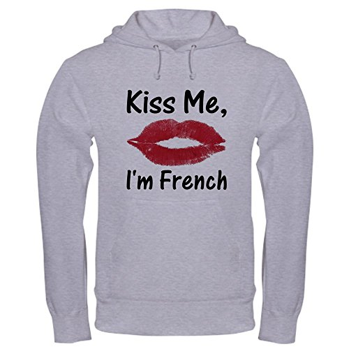 CafePress Kiss Me, I'm French - Pullover Hoodie, Classic & Comfortable Hooded Sweatshirt