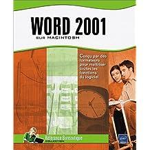 Word 2001 sur macintosh
