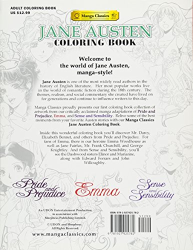 Aeropost Com Costa Rica Jane Austen Coloring Book Manga Classics