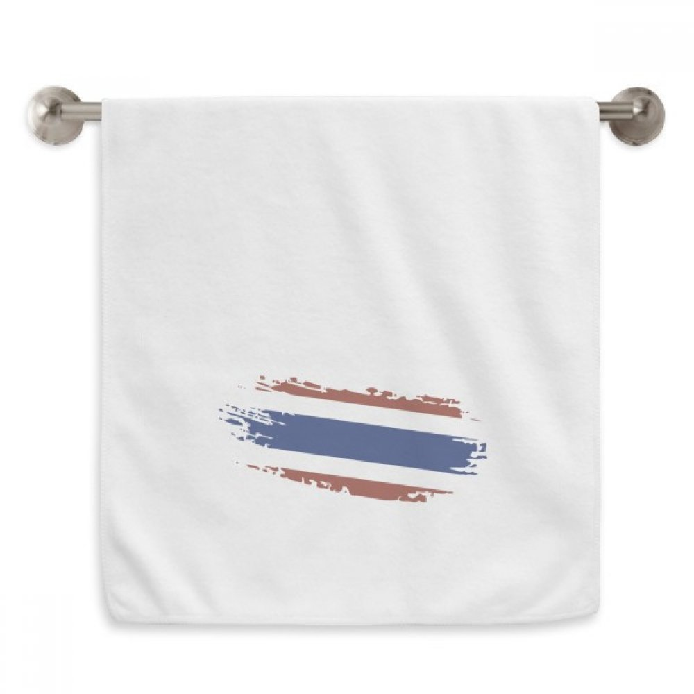 DIYthinker Thai Bangkok Thailand Flag Art Illustration Circlet White Towels Soft Towel Washcloth 13x29 Inch by DIYthinker
