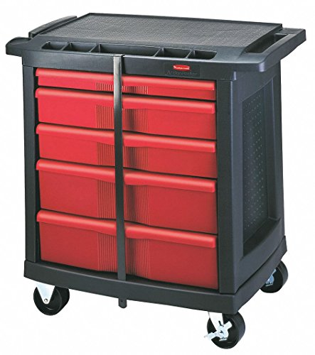 Rubbermaid Commercial Trademaster 5 Drawer Mobile Work Center, 33