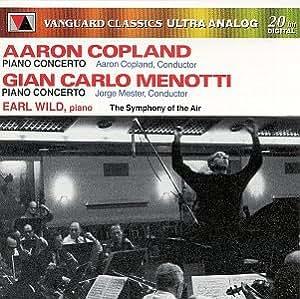 Copland: Piano Concerto And Orchestra/Menotti: Concerto In F For Piano And Orchestra