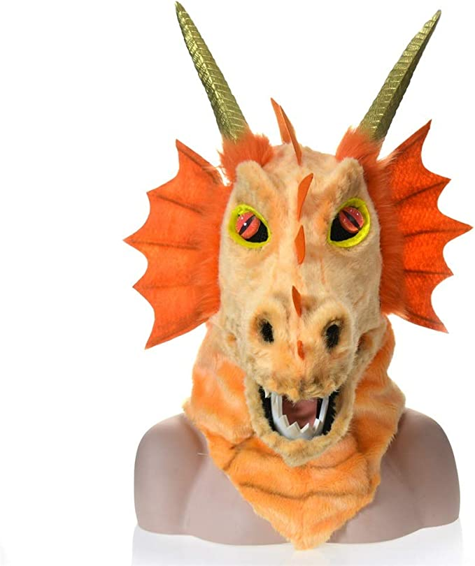LULI Novedad Disfraz de Halloween Máscara de boca móvil de dragón ...