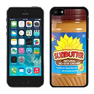 DIY,Personalized iPhone 5C Case Design with Sun Butter Natural Sunflower in Black