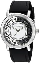 Stuhrling Original Women's 830.01 Symphony Quartz Black Silicone Strap Watch