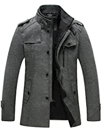 "<span class=""a-offscreen"">[Sponsored]</span>Men's Pea Coat Stand Collar Windproof Jacket Overcoat"