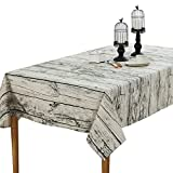 Sourcemall Retro Wood Grain tablecloth, Photography Background Cloth, Linen and Vintage Tablecover, Assorted Size (140x100cm)