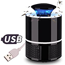 Hot Sale Mosquito Killer Lamp, ZYooh Electric Fly Bug Zapper Mosquito Insect Killer with Trap Lamp LED Light Pest Control USB Powered (Black)
