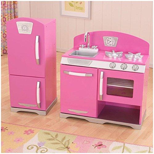 KidKraft 53306 Retro Kitchen and Refrigetator Bubblegum Toy (Retro Pink Kitchen compare prices)