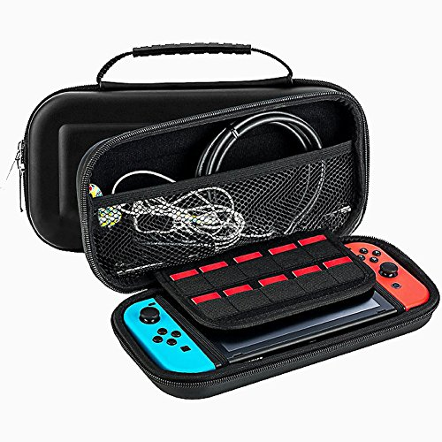 Nintendo Switch Carrying Case - Nintendo Switch Protective Waterproof Travel Carrying Case by OVIONS Portable Universal Hard Shell Protector Game Case for Nintendo Switch Accessories