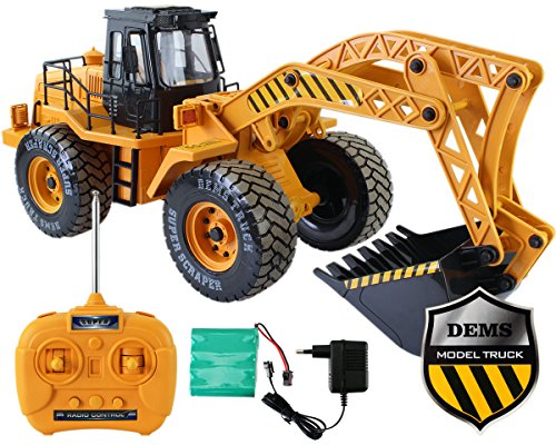 Radlader RC Baufahrzeug, Bagger, 3 Kanal, Maßstab 1:18, mit Akku Spielzeug Spiel Trecker Bagger Ferngesteuert NEU