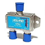 1 Piece Holland Diplexer 5-2150Mhz Switch Digital Analog Satellite DISH Network DirecTV Compatible Residential Commercial usage Precision machine threaded F port and PCB Design 2 amp Power Passing