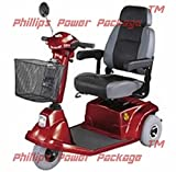 CTM - HS-570 - Mid-Range Scooter - 3-Wheel - Burgundy - PHILLIPS POWER PACKAGE TM - TO $500 VALUE