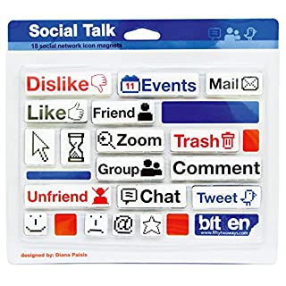 Social Talk - 18 Social Network Icon Magnets by Nuop Desigen