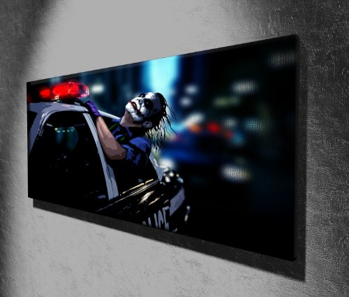 The Joker Batman Dark Knight Panoramic Movie Canvas Print Picture 50 x 20 inch Large Canvas Art Print Picture Poster, Ready to Hang New...