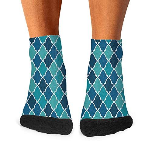 Cute Mosaic Lattice Fashion Men's Sporty Ventilation Low Cut socks