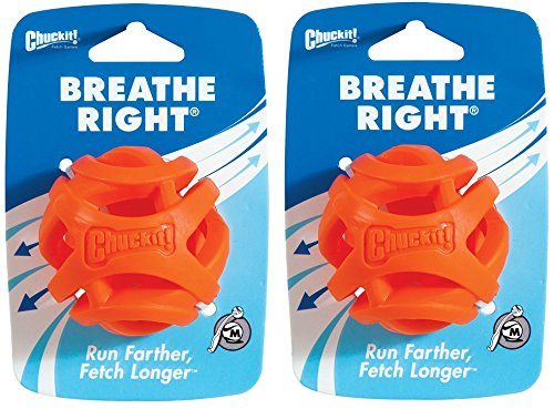 Chuckit! (2 Pack) Breathe Right Fetch Ball (Medium)