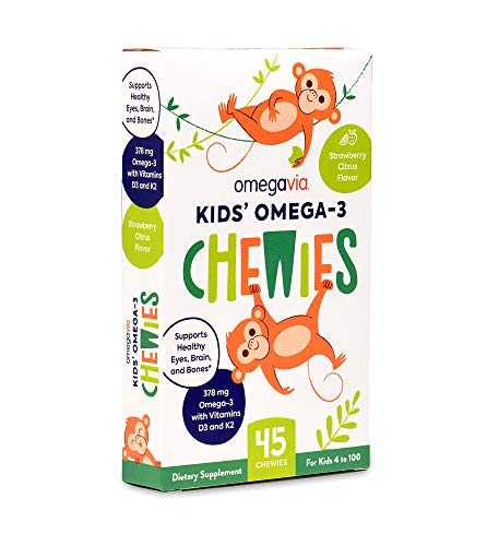 🥇 OmegaVia Kids Omega-3 Gummy with Vitamin D3