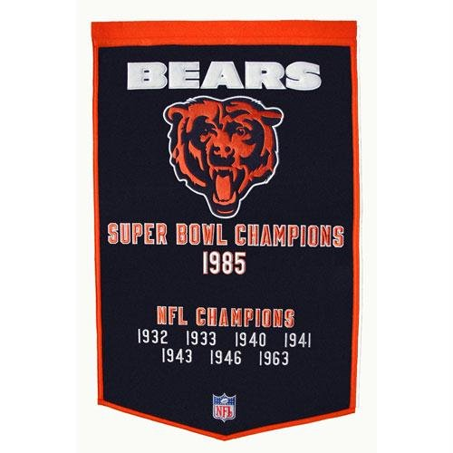 (NFL Chicago Bears Wool Dynasty Banner)