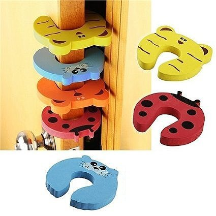 GroovyApple® 7 PCS Cushion Children Safety Finger Pinch Cartoon Animal Foam Door Stopper by GroovyApple (Image #5)